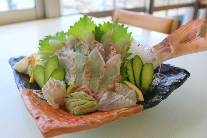 釣った鯛はレストランで食べて帰ろう!