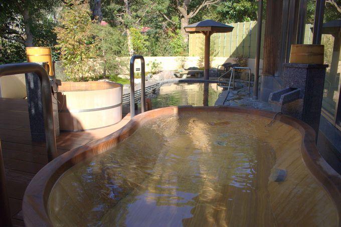 心地いい露天風呂とオープンキッチンのビュッフェを堪能!