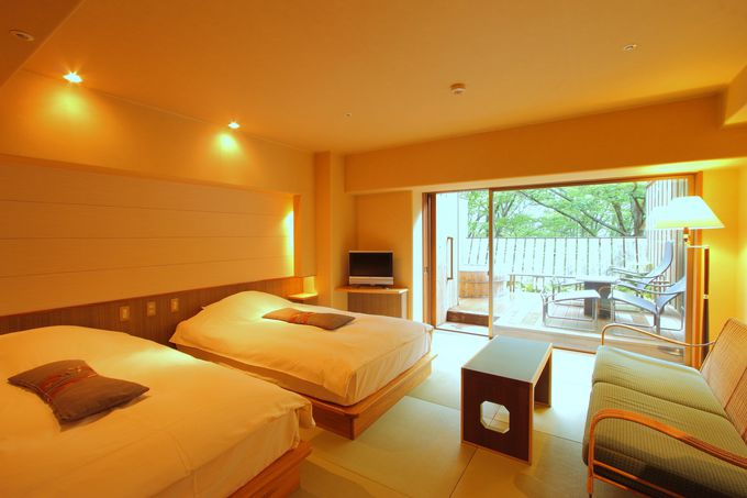 和洋室や露天風呂付き客室も!多彩な客室が魅力的!