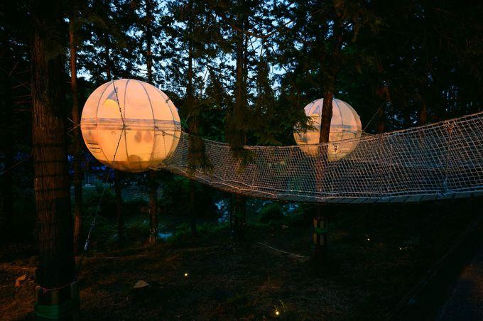 宙に浮かぶフロートテントやグランピングテントもオシャレ!