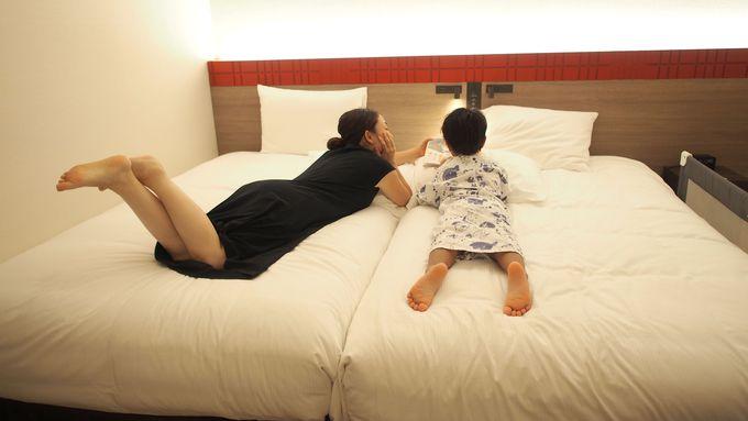 子連れに嬉しい!ゆったりとした部屋と豊富なアメニティ
