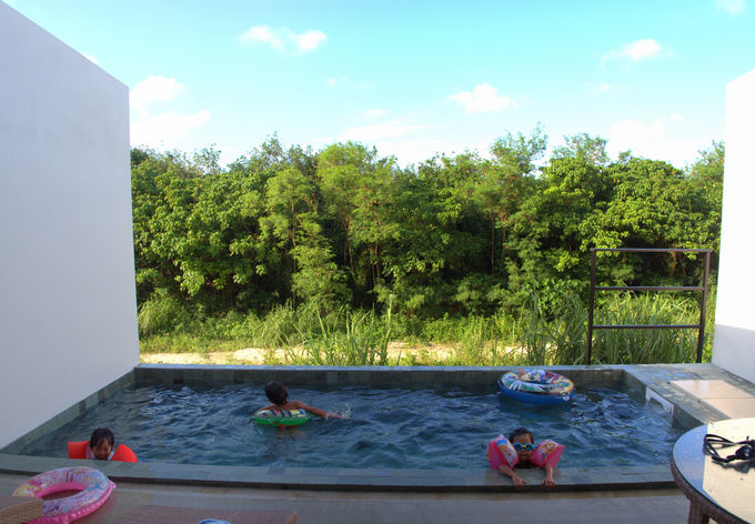 部屋が広く、大自然に囲まれたホテルは子連れに最高!