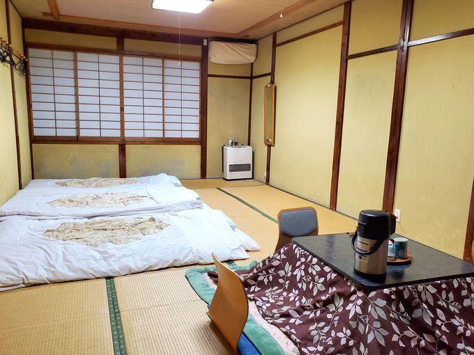 冬はコタツ付き、夏は冷房なしで快適!居心地良い和室に宿泊