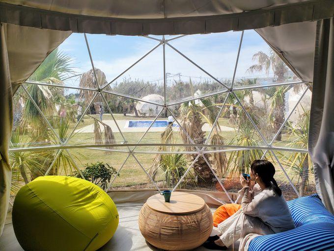 ホテルステイの快適さとキャンプのワクワク感が融合!