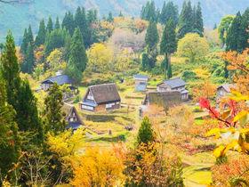 世界文化遺産 富山「五箇山合掌造り集落」の里山や田園を散策