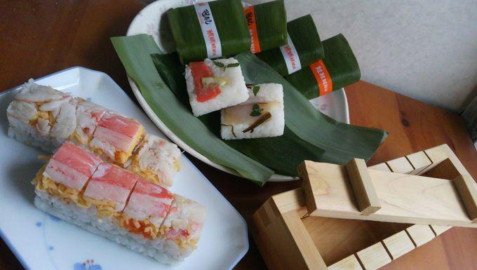 人の集まるところには笹寿司や押し寿司が