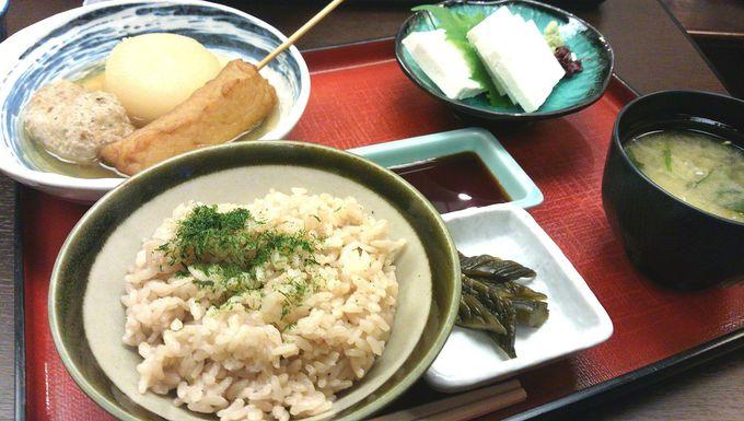 JR金沢駅構内の「季節料理 おでん黒百合」