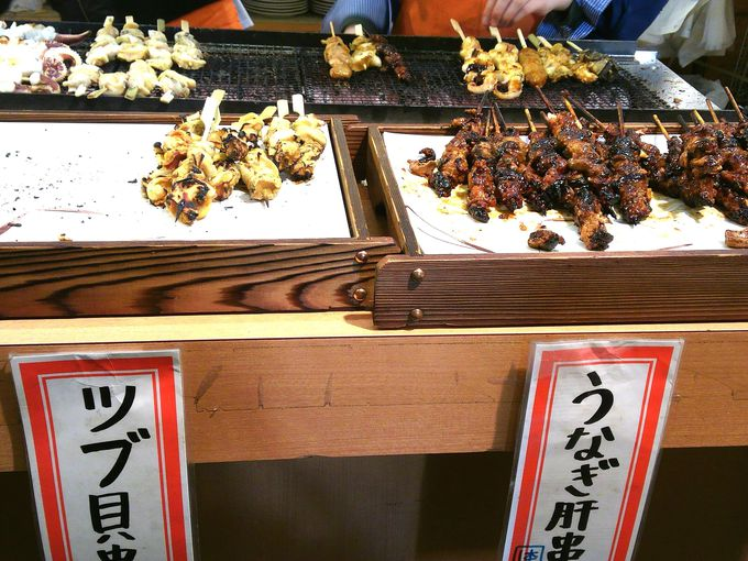 海鮮類などの串焼き!