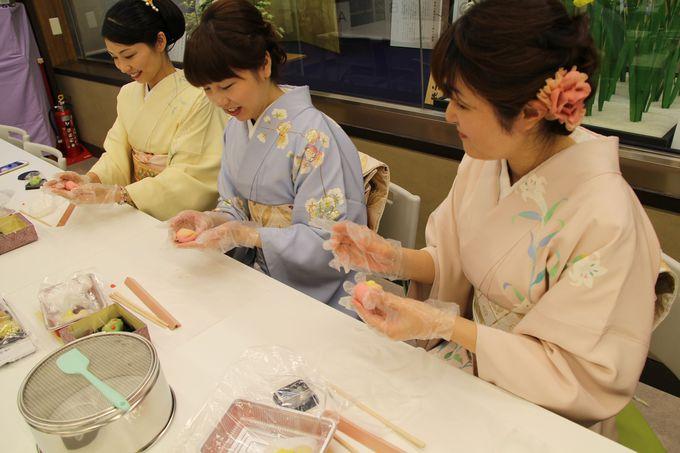 1日目午後:兼六園観光のあとは和菓子体験、夜は回転寿司店へ