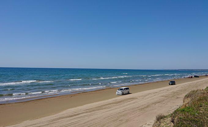 羽咋市、千里浜なぎさドライブウェイ