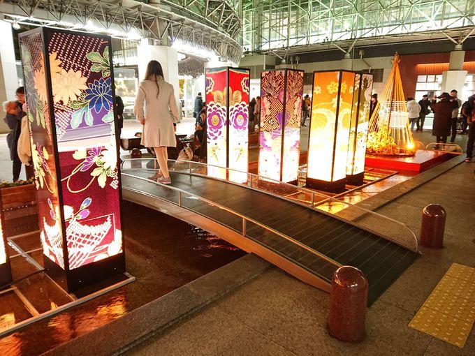 金沢駅周辺のライトアップ