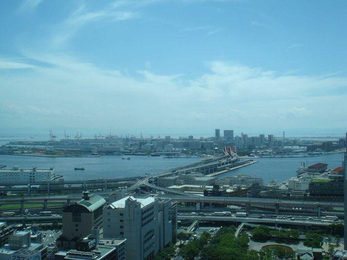 展望24階より、海側の景色
