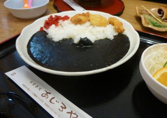 ちょっと早めの腹ごしらえ。遊覧船乗り場の「あじろや」で海産物&鳥取B級グルメを楽しむ。