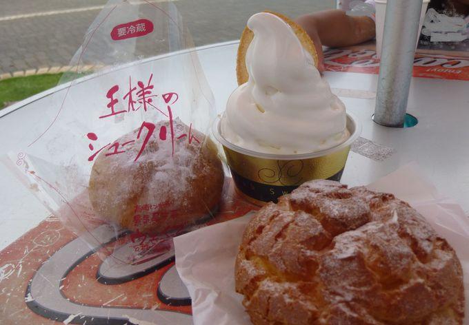 必食スイーツをご紹介。シュークリーム二種&ガトーフェスタハラダのソフトクリーム!