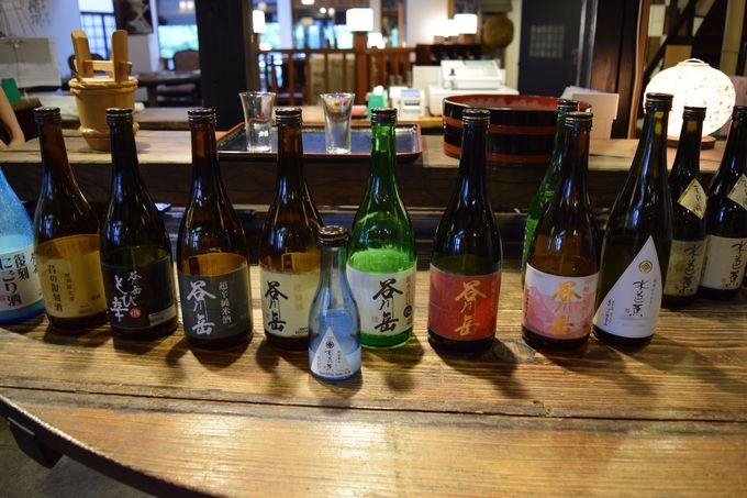 酒蔵では酒造りを見学、古新館ではお気に入りの一本を選ぼう