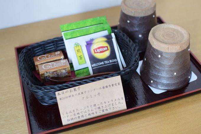 ウェルカムスイーツは鎌倉紅谷のお菓子