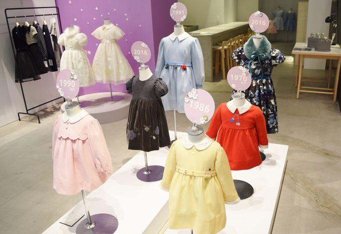「手刺繍・ドレス」「ファミリアチェック」など5テーマで行われる展示