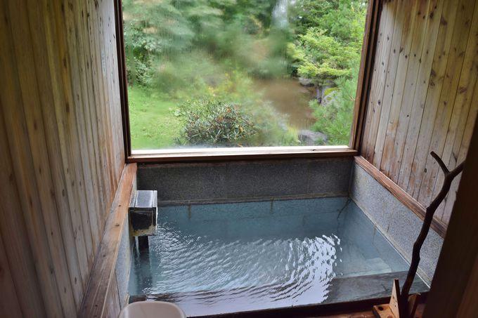 リーズナブルな貸切風呂。露天風呂・野天風呂も同時に利用可