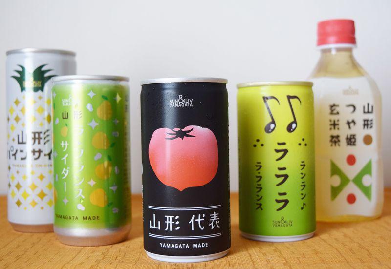 山形代表&つや姫玄米茶!可愛いご当地ジュースをお土産にいかが?