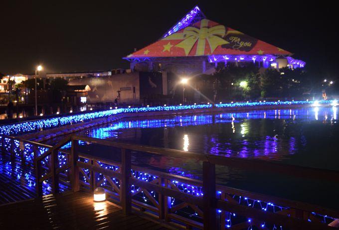 水族館「アクアミュージアム」が光のピラミッドに!ショー「スカイ ライト マジック」も必見