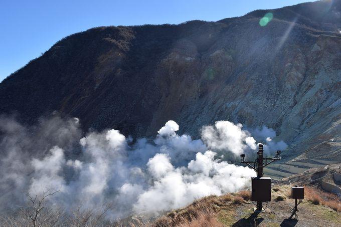 噴煙を上げる大迫力の「地獄谷」