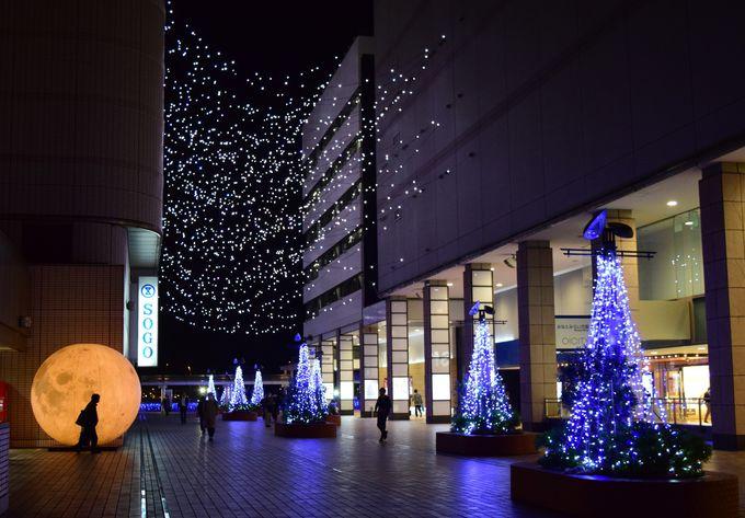 横浜駅東口前「星降るテラス」がゴール