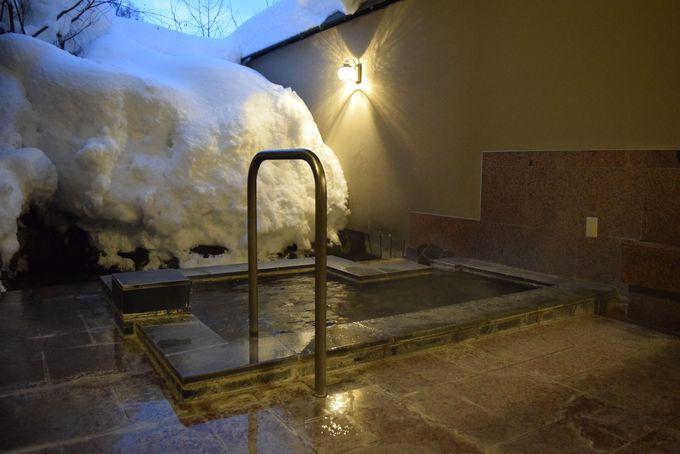11種類の貸切露天風呂!雪見温泉でくつろごう