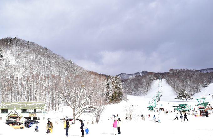 東京から約2時間半。「藤原スキー場」は目の前!