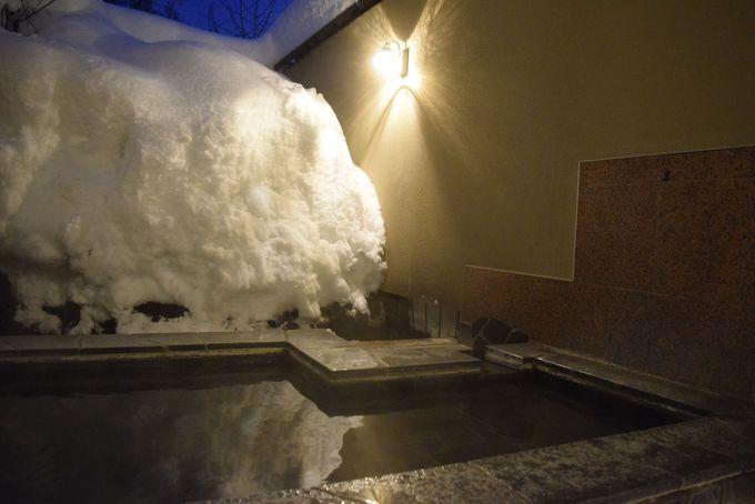 スキー後は温泉で温まって帰ろう