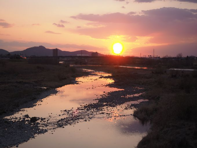 15:30 カフェ&御朱印めぐり後は渡良瀬橋の夕日を