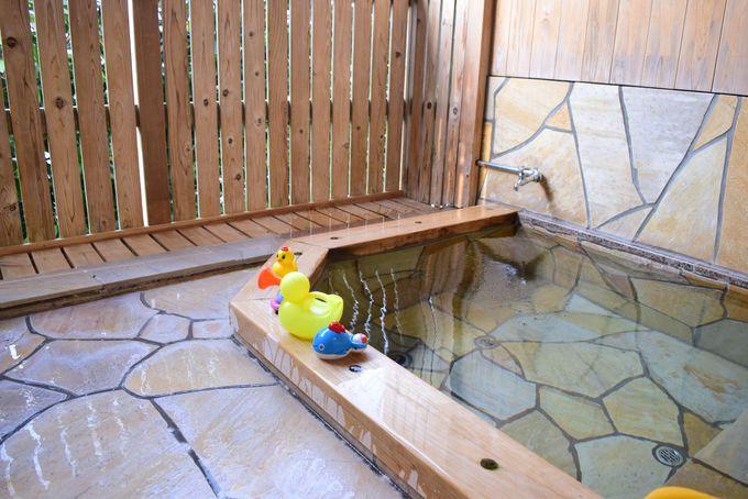 滞在中、何度も入れる貸切温泉