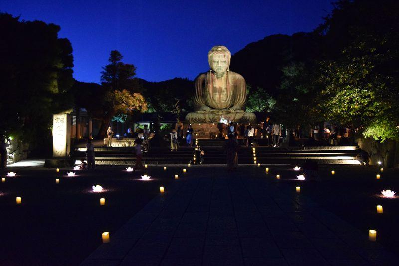 「かまくら長谷の灯かり」古都の夕闇を照らす寺社ライトアップ