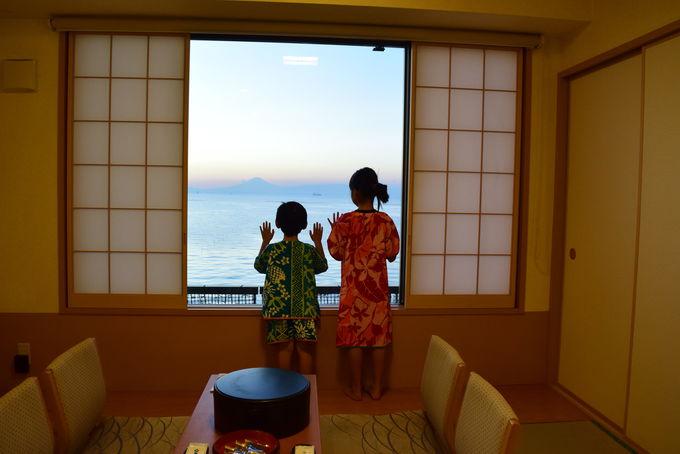 全室オーシャンビューのお部屋からは富士山!