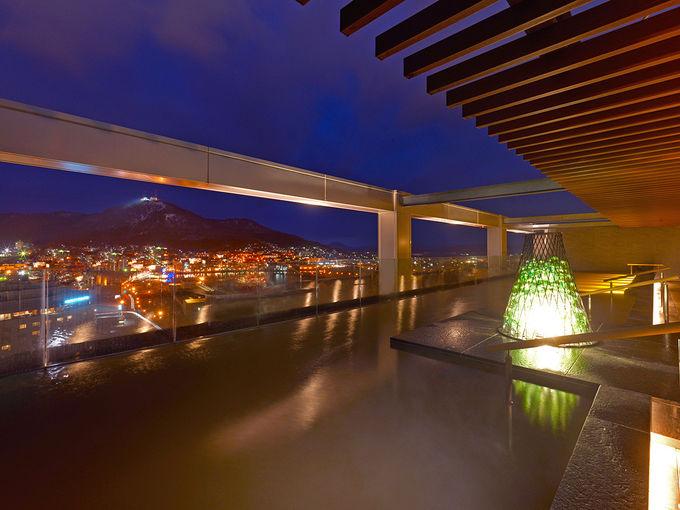 函館エリア最大規模のスパゾーンから夜景を!