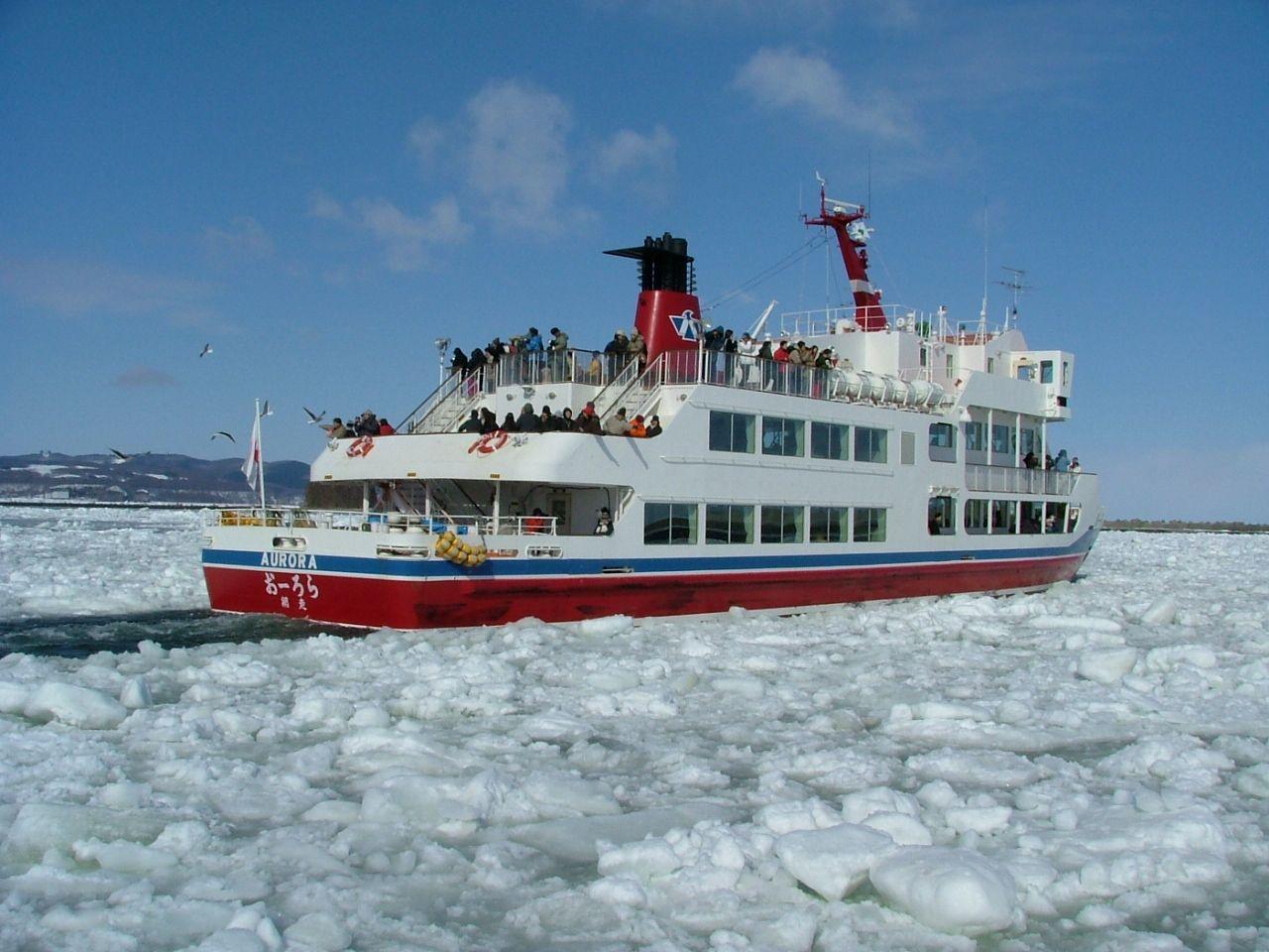 2.網走流氷観光砕氷船 おーろらで流氷観光