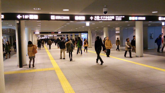 駅からススキノまで続く巨大地下歩行空間を使って天気に関係なくまち歩き