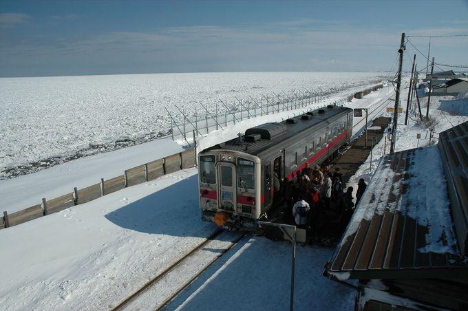 番外編!? その2 車での移動でも列車での移動でも楽しめる流氷海岸‥「網走・北浜駅」