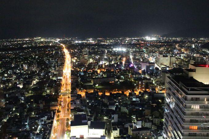 岐阜で一番高いビルの最上階から夜景を眺める♪