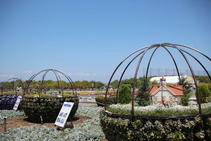大花壇とミニチュアの風景が楽しめる、花銀河