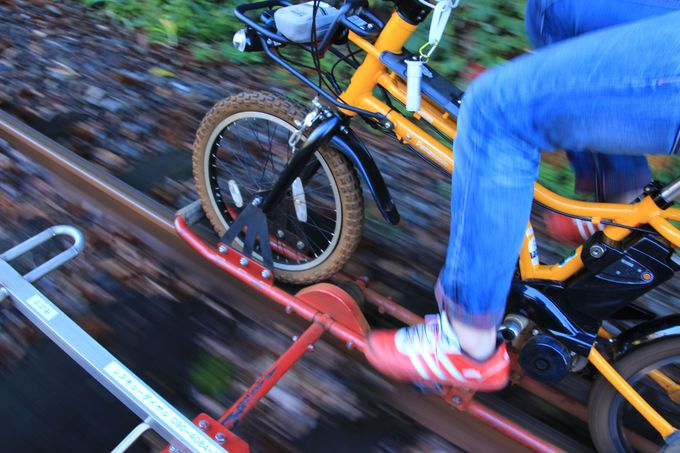 線路の上を走ろう!岐阜「レールマウンテンバイク ガッタンゴー!」