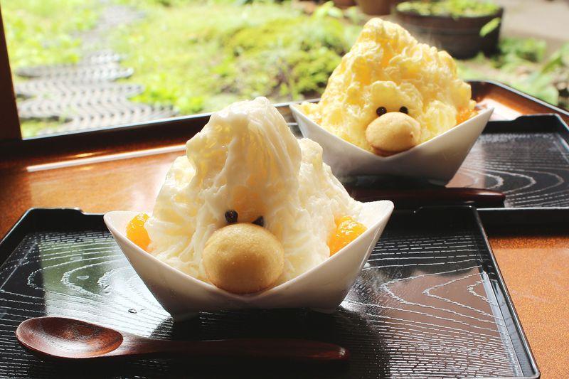 可愛くて新食感!愛知県犬山市・本町茶寮の「ふわふわかき氷」