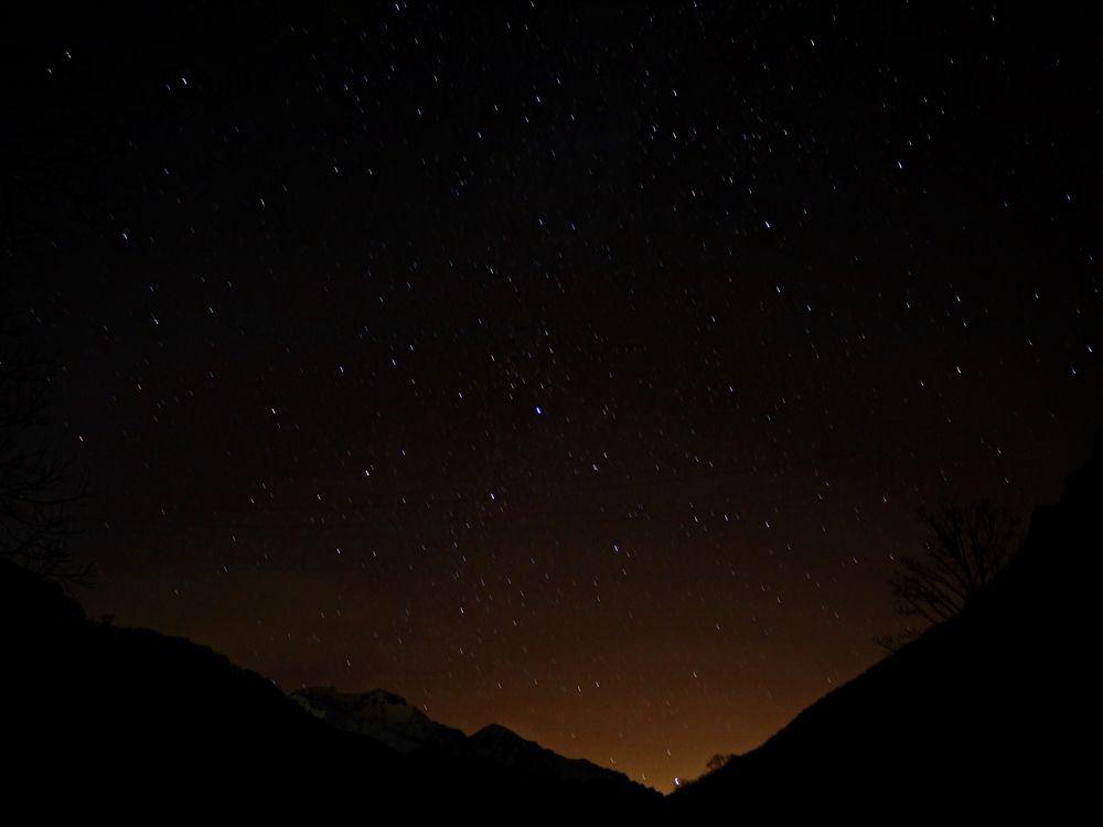 帰り際に天体観測で締めの絶景、湯桧曽公園