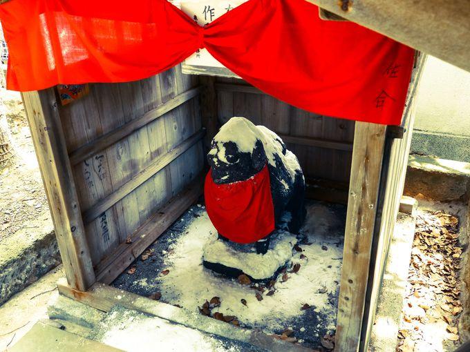 お犬様の塩漬け、亀戸天神社の絵馬、筆塚