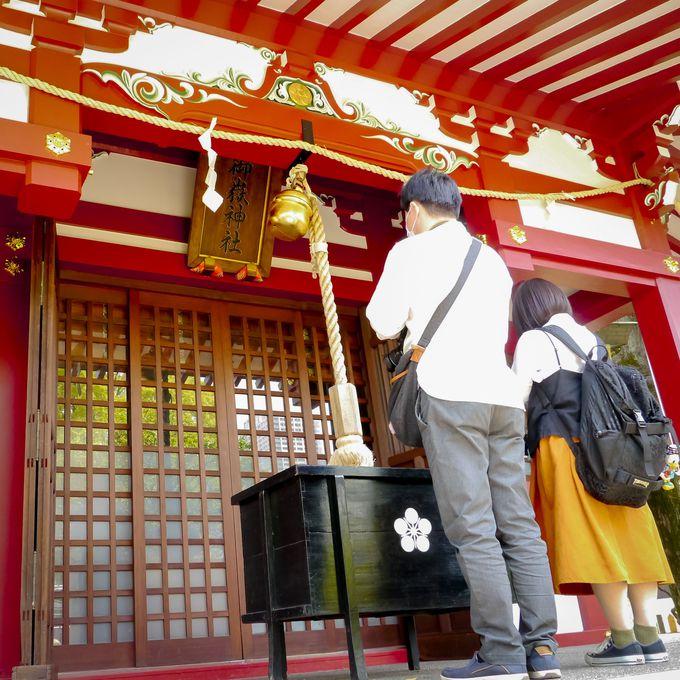 摂末社(御嶽神社、花園神社)
