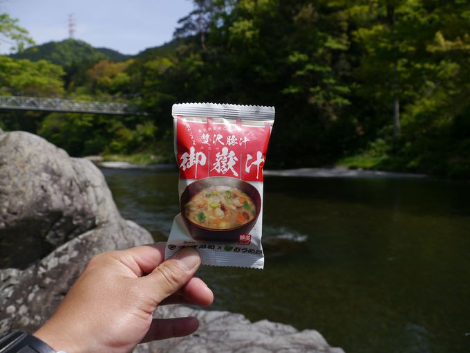 御岳渓谷の澤乃井園は奥多摩ご当地グルメ 御岳汁が絶品