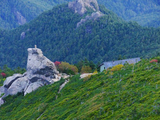 改めて金峰山を見渡すとやはり不思議な景観