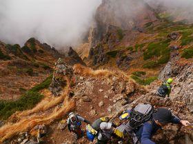 「歩行困難絶景悪路」南八ヶ岳の一番高い赤岳から硫黄岳へ