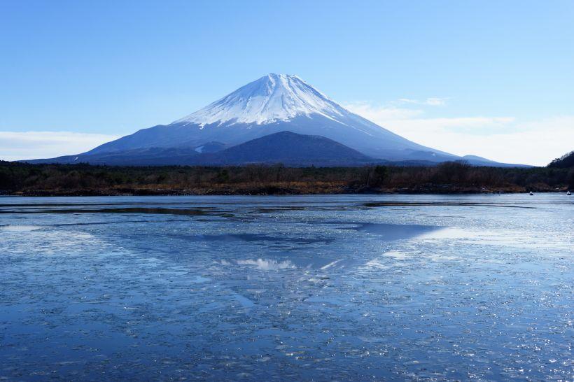 子抱き富士を見るなら「精進湖」