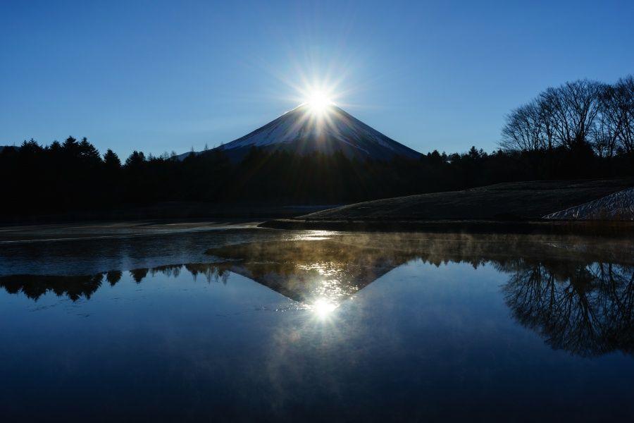 絶景2:感動的なダブルダイヤモンド富士