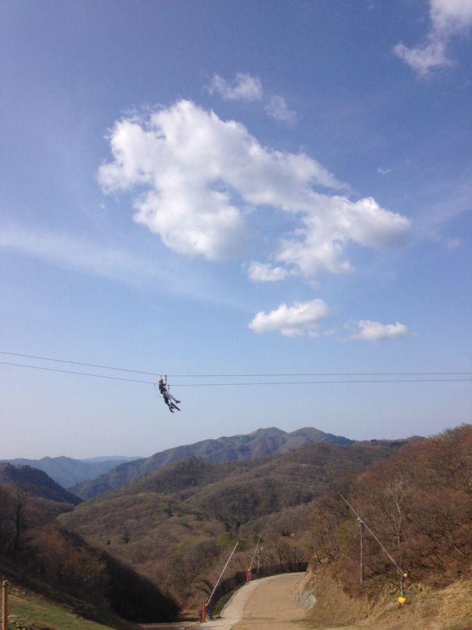 「蓬莱山」で琵琶湖を眼下にたっぷり遊べる「びわ湖バレイ」